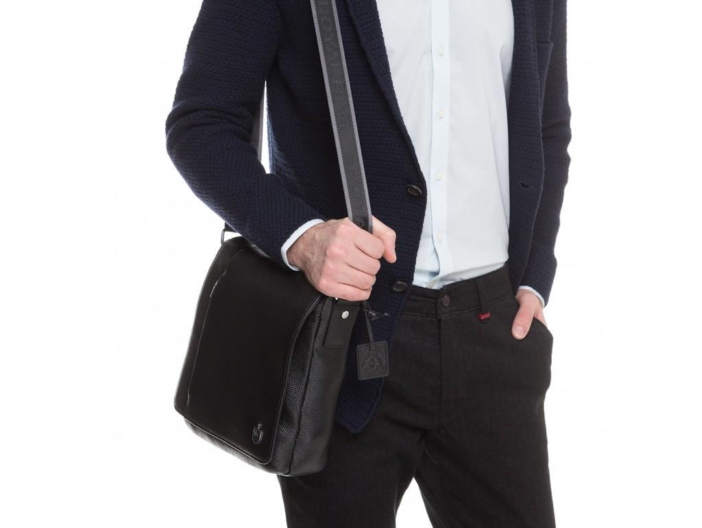 Кожаная мужская сумка через плечо с клапаном Royal Bag RB70011