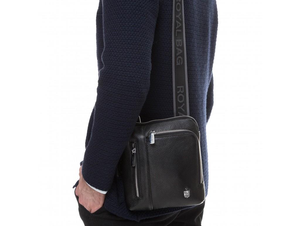 Мужская кожаная сумка через плечо маленькая Royal Bag RB70091 - Royalbag