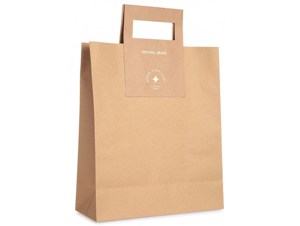 Мужская кожаная сумка через плечо мессенджер Royal Bag RB70151