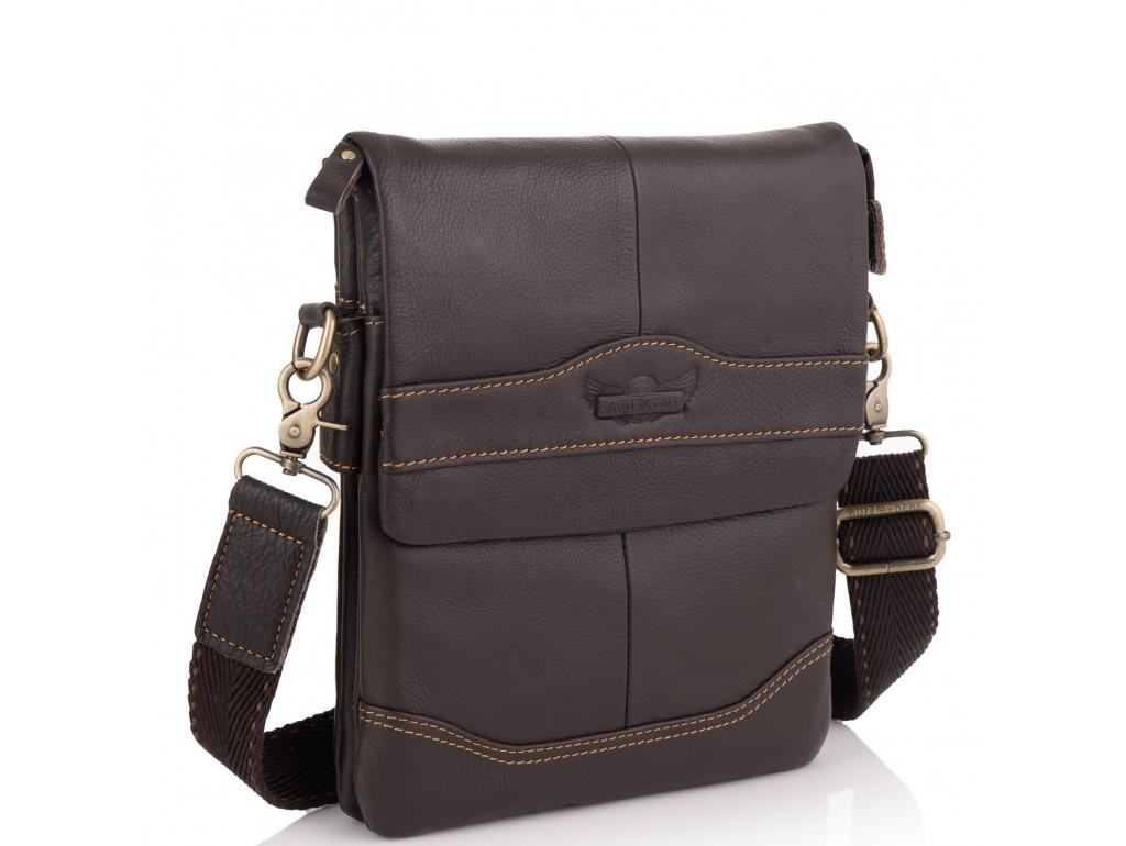 Мужская сумка через плечо кожаная Ruff Ryder RR-3863B - Royalbag Фото 1