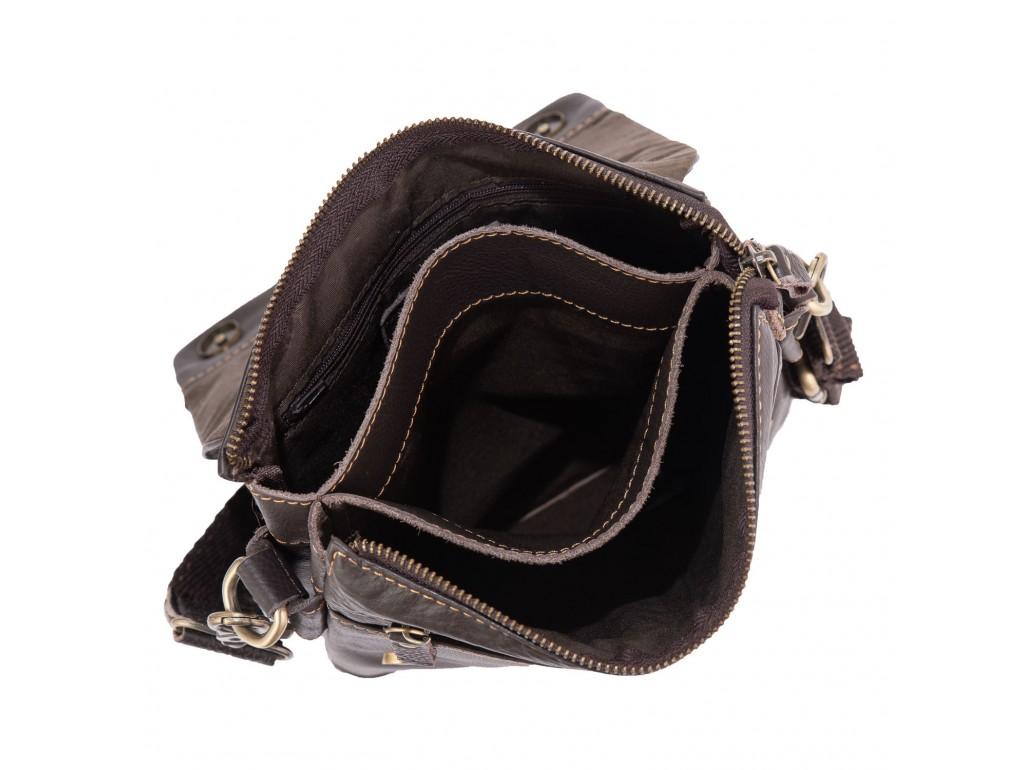 Мужская сумка через плечо кожаная Ruff Ryder RR-3863B - Royalbag