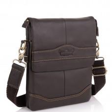 Мужская сумка через плечо кожаная Ruff Ryder RR-3863B - Royalbag Фото 2