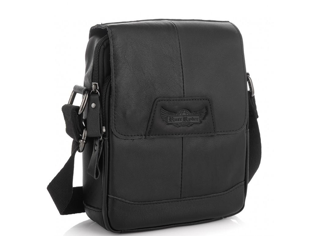 Мужская сумка кожаная через плечо Ruff Ryder RR-9033-6A - Royalbag Фото 1