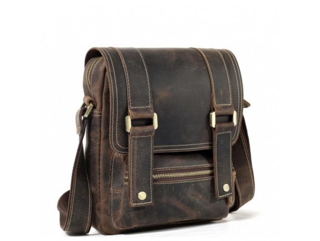 Мужской мессенджер из винтажной коричневой кожи Tiding Bag T1172 - Royalbag Фото 1