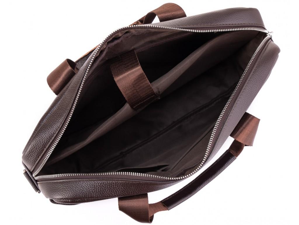 Кожаная сумка для ноутбука коричневая Tiding Bag A25-1128C - Royalbag