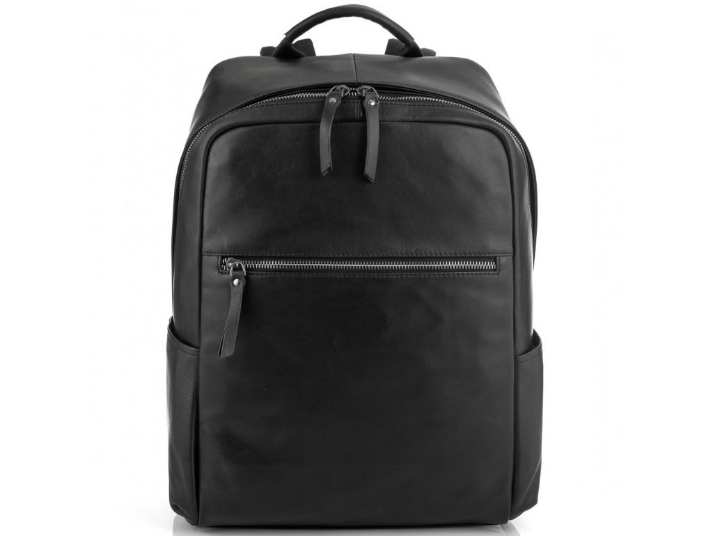 Черный стильный кожаный мужской рюкзак Tiding Bag NM29-2679BA - Royalbag