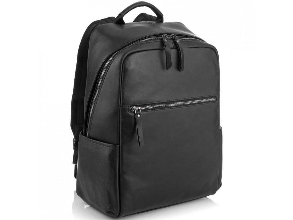 Черный стильный кожаный мужской рюкзак Tiding Bag NM29-2679BA - Royalbag Фото 1