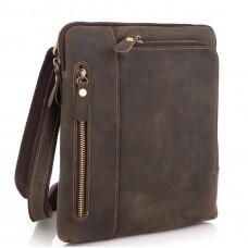 Сумка через плечо мужская коричневая Tiding Bag t0030R - Royalbag Фото 2