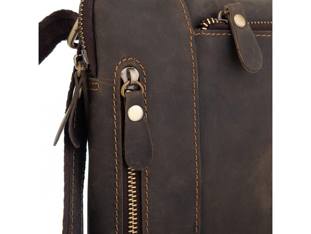 Сумка через плечо мужская коричневая Tiding Bag t0030R - Royalbag