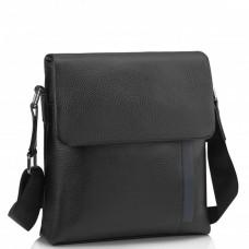 Мужская кожаная сумка через плечо черная Tiding Bag A25F-9913A - Royalbag Фото 2