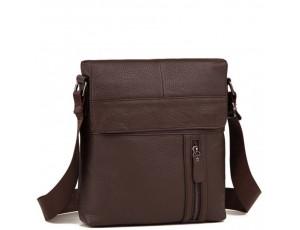 Мужская кожаная сумка серез плечо с клапаном Tiding Bag M38-1713C - Royalbag