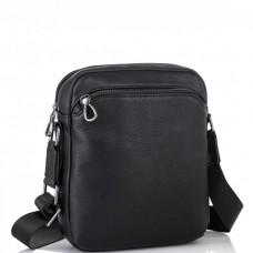 Мужская кожаная сумка через плечо черная Tiding Bag SM8-9686-4A - Royalbag Фото 2