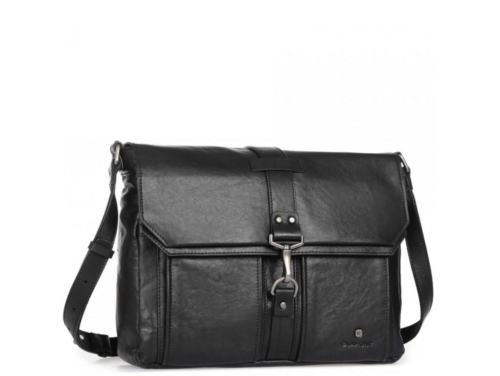 Мужская сумка-мессенджер с кожаным ремнем Blamont P531711 - Royalbag Фото 1