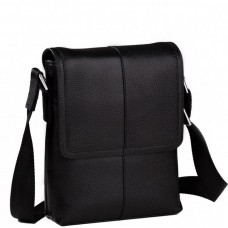 Мужская сумка через плечо кожаная маленькая Tiding Bag M1506A - Royalbag Фото 2