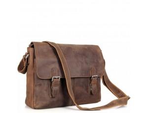Мессенджер коричневый Tiding Bag 6002LR-2 - Royalbag