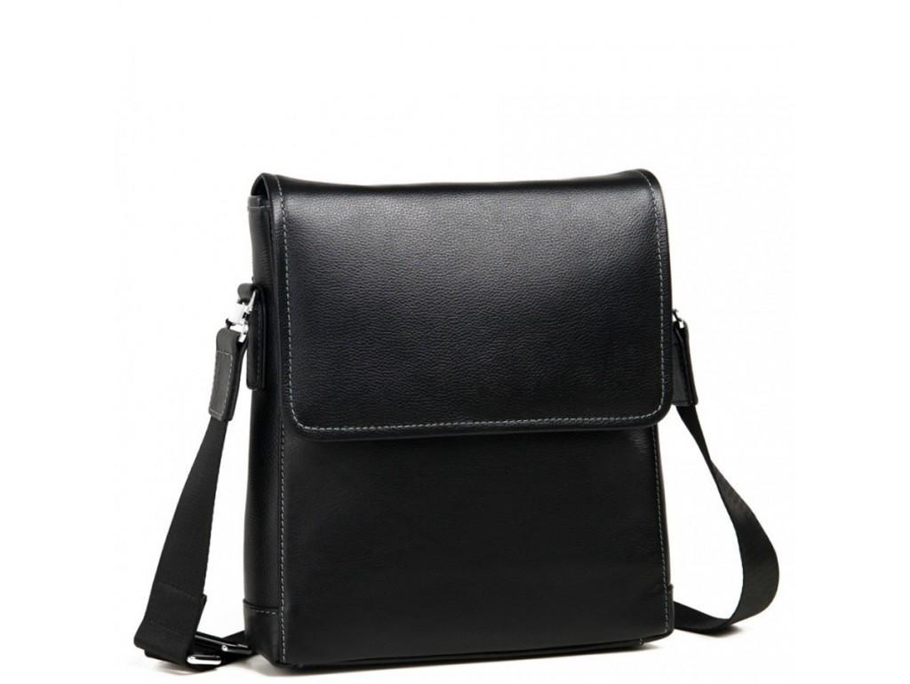 Кожаная наплечная мужская сумка Tiding Bag M685-2A - Royalbag Фото 1