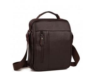 Вместительная сумка через плечо из натуральной кожи Tiding Bag A25-2158C - Royalbag