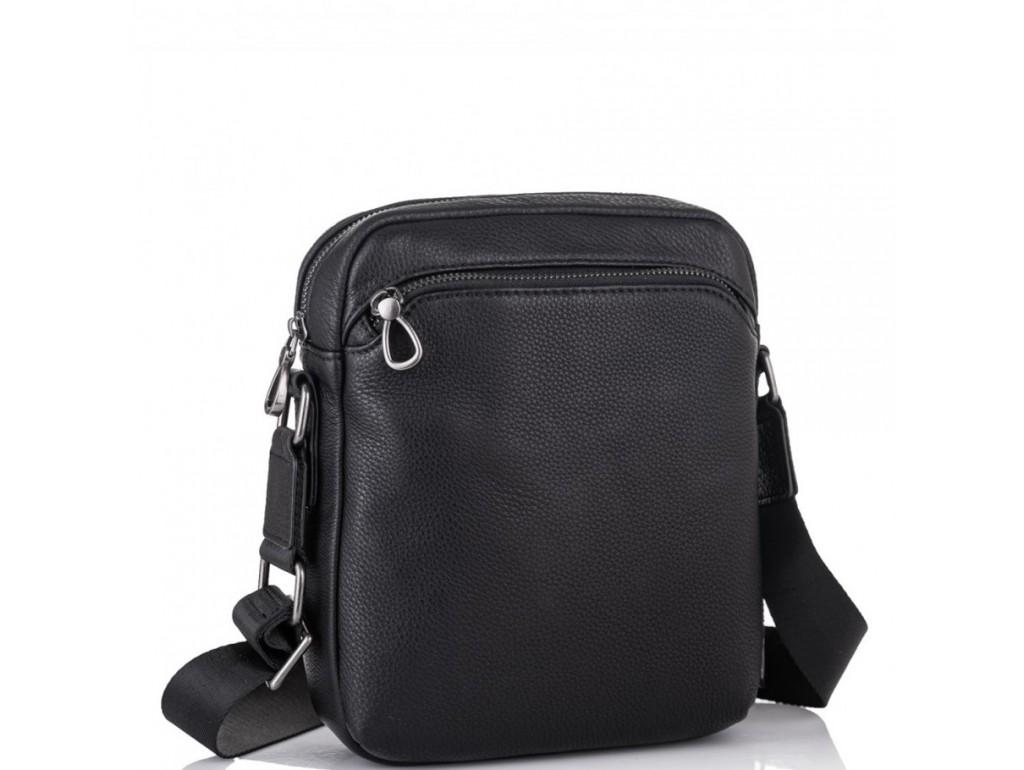 Мужская кожаная сумка через плечо черная Tiding Bag SM8-9686-4A - Royalbag Фото 1