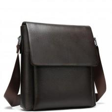 Сумка через плечо мужская кожаная коричневая Tiding Bag A25-1278C - Royalbag Фото 2