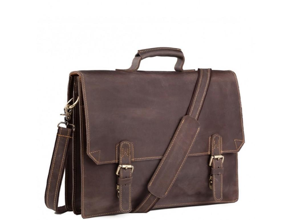 Коричневый мужской портфель из натуральной кожи Tiding Bag GA2095R - Royalbag Фото 1