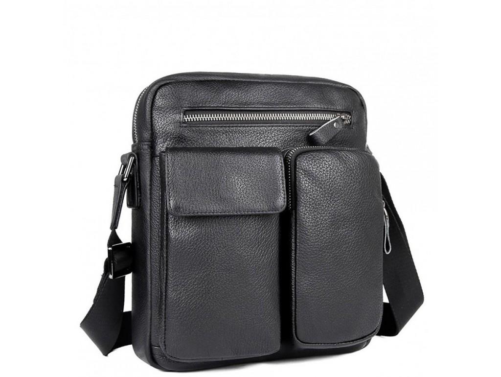 Мужская сумка через плечо с карманами натуральная кожа Tiding Bag 9812-1A - Royalbag Фото 1
