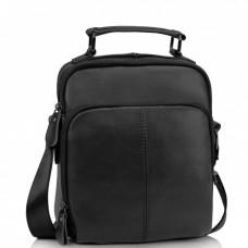 Мужская кожаная сумка на плечо черная Tiding Bag M35-0118A - Royalbag Фото 2