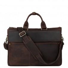 Сумка-портфель для ноутбука чоловіча шкіряна 17 дюймів Tiding Bag t1096 - Royalbag