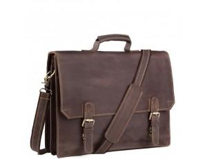 Коричневый мужской портфель из натуральной кожи Tiding Bag GA2095R - Royalbag