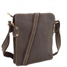 Повседневная мужская наплечная кожаная сумка на молнии Tiding Bag G8856C - Royalbag Фото 2