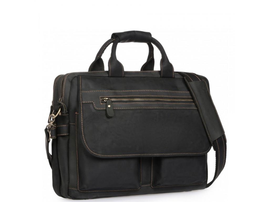 Сумка-портфель мужская кожаная для поездок Tiding Bag t29523A - Royalbag Фото 1