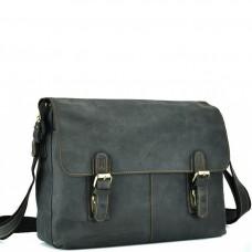 Мессенджер черный через плече Tiding Bag 6002A-1 - Royalbag Фото 2