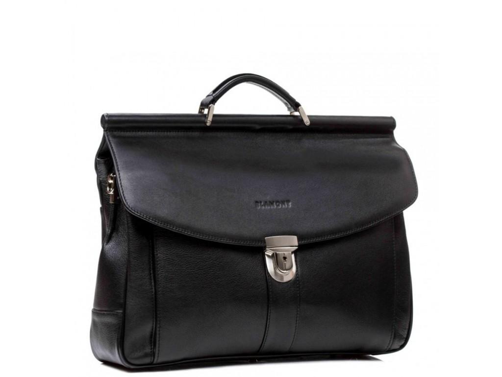 Мужской кожаный портфель Blamont Bn017A-1 - Royalbag Фото 1