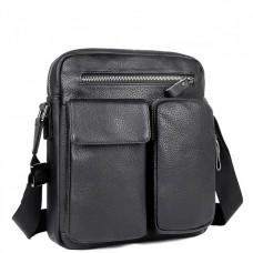Мужская сумка через плечо с карманами натуральная кожа Tiding Bag 9812-1A - Royalbag Фото 2