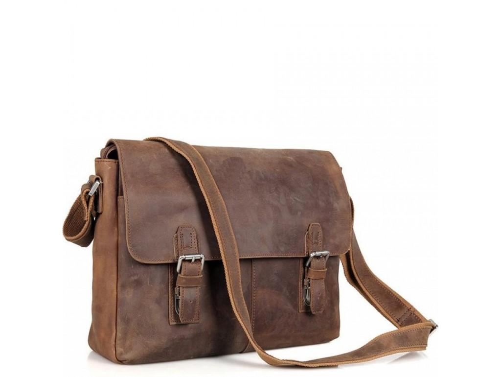 Мессенджер коричневый Tiding Bag 6002LR-2 - Royalbag Фото 1