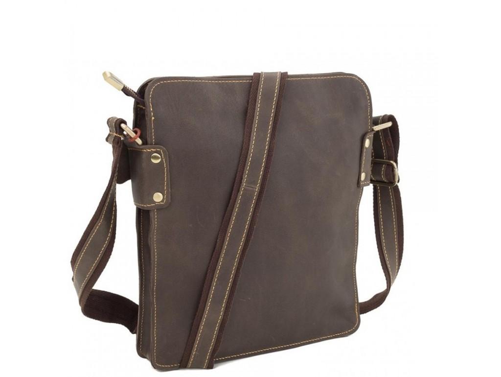 Повседневная мужская наплечная кожаная сумка на молнии Tiding Bag G8856C - Royalbag Фото 1