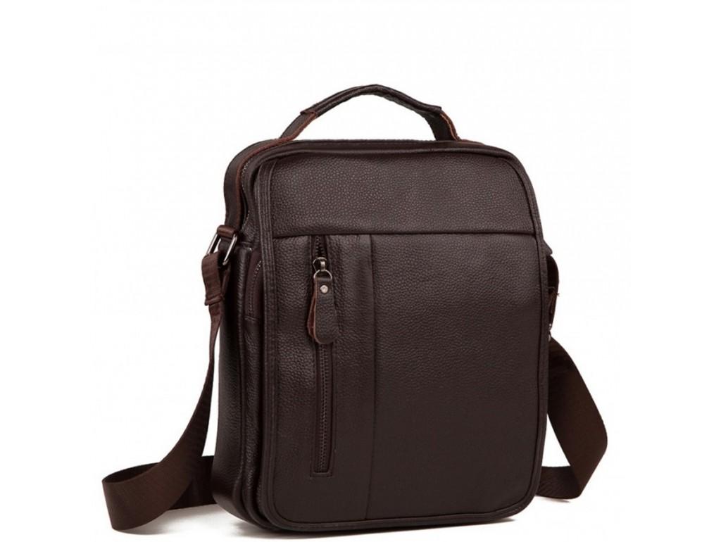 Вместительная сумка через плечо из натуральной кожи Tiding Bag A25-2158C - Royalbag Фото 1
