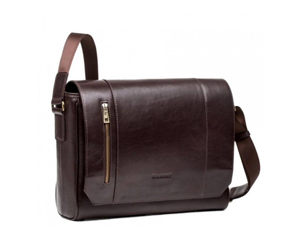 Мужская сумка через плечо под документы из натуральной кожи Blamont Bn092C - Royalbag Фото 1