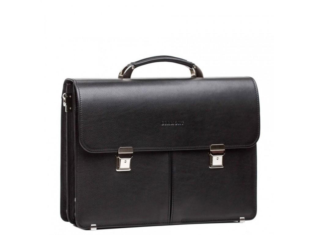 Діловий чоловічий  шкіряний портфель два відділа Blamont Bn063A - Royalbag Фото 1