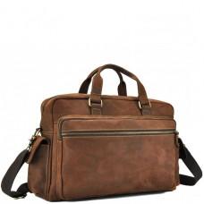 Мужская дорожная сумка из натуральной кожи с отделом для ноутбука Tiding Bag t0018 - Royalbag Фото 2
