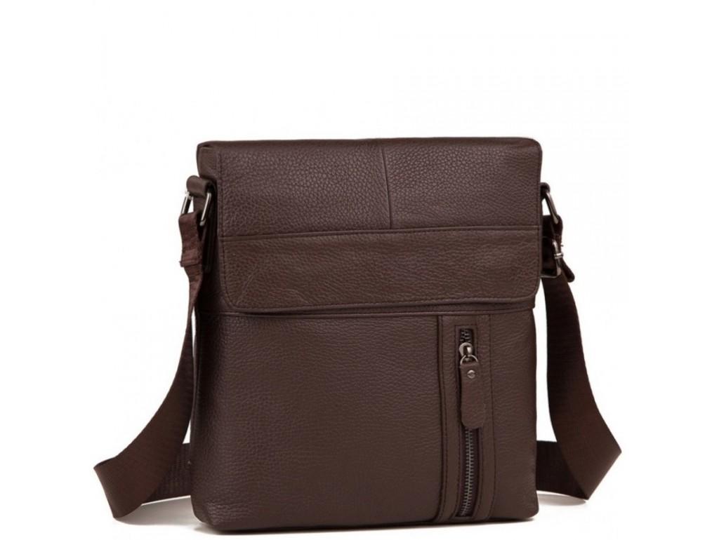 Мужская кожаная сумка серез плечо с клапаном Tiding Bag M38-1713C - Royalbag Фото 1
