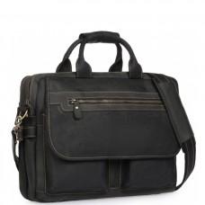 Сумка-портфель мужская кожаная для поездок Tiding Bag t29523A - Royalbag Фото 2