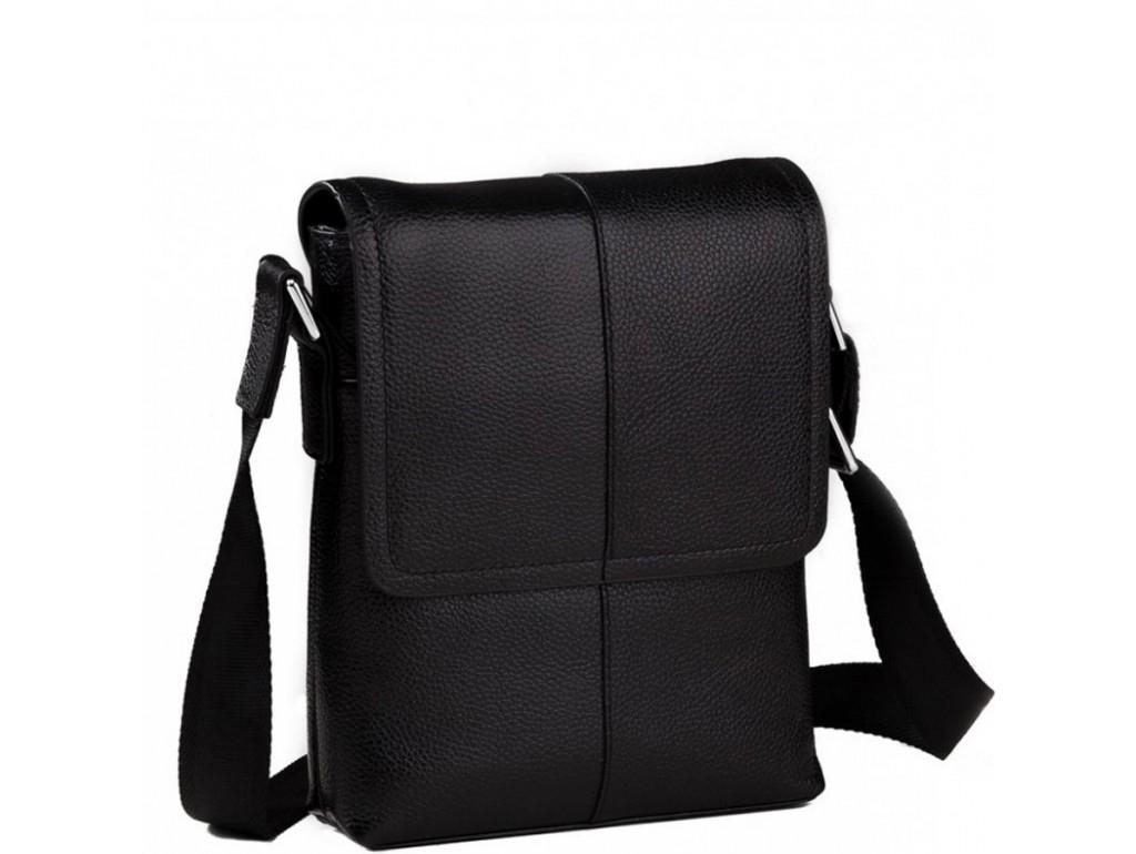 Мужская сумка через плечо кожаная маленькая Tiding Bag M1506A - Royalbag Фото 1