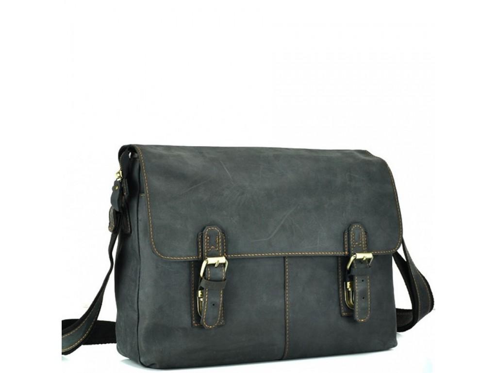 Мессенджер черный через плече Tiding Bag 6002A-1 - Royalbag Фото 1
