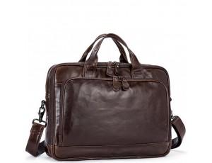Мужская кожаная сумка для документов и ноутбука Jasper&Maine 7005Q - Royalbag