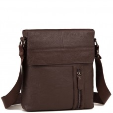 Мужская кожаная сумка серез плечо с клапаном Tiding Bag M38-1713C - Royalbag Фото 2