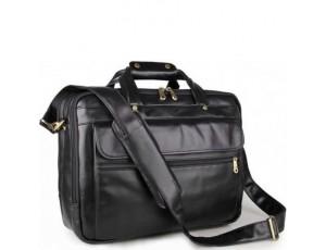 Мужская кожаная сумка-портфель на три отдела для документов и ноутбука Jasper & Maine 7146A - Royalbag