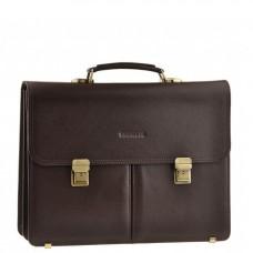 Портфель чоловічий шкіряний коричневий з замками Blamont Bn063C - Royalbag