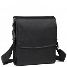 Каркасная мужская кожаная сумка через плечо Tiding Bag M9833A - Royalbag Фото 2