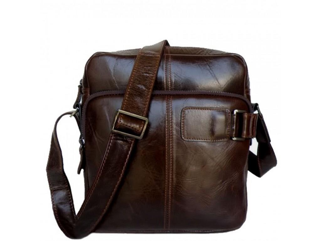Мужская сумка-мессенджер из натуральной кожи Tiding Bag 6012 - Royalbag Фото 1