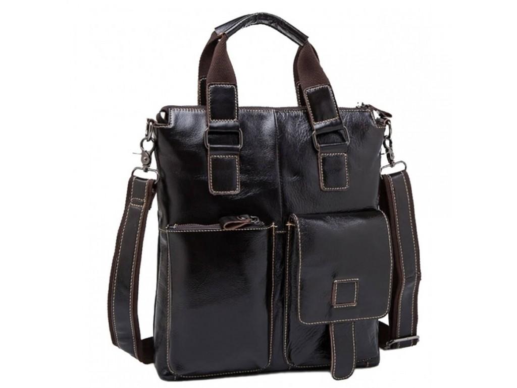 Мужская кожаная сумка вертикальная под А4 Bexhill BX259C - Royalbag